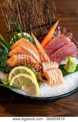 Vareity of Sashimi set, gourmet japanese freshness cuisine