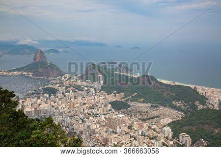 Aerial view of the Rio de Janeiro, Brasil
