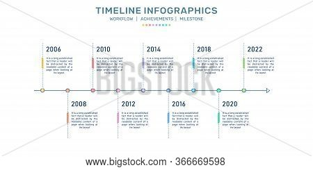 Timeline Infographics, Milestone Infographics, Process Flow, Business Development Process