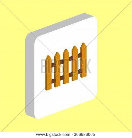 Wooden Fence Simple Vector Icon. Illustration Symbol Design Template For Web Mobile Ui Element. Perf