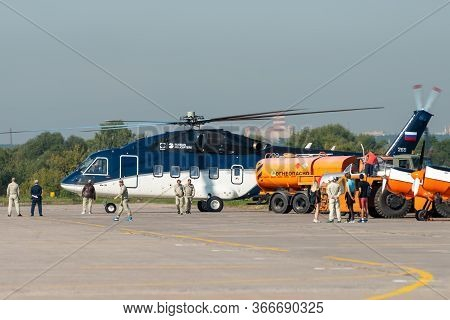 August 30, 2019. Zhukovsky, Russia. Russian Medium Multi-purpose Helicopter Mil Mi-38 At The Interna