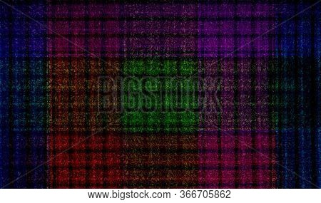 Abstract Art Quadratic Geometry Shapes Dark Colors Green Red Purple And Blue Background Texture Wall