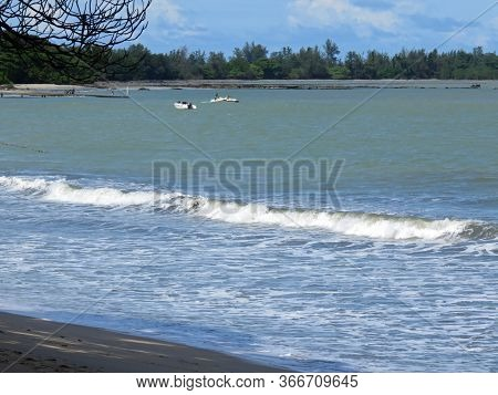 Beautiful Beach At  Desaru Beach Johor Malaysia