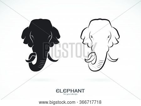 Vector Of Elephant Head Design On White Background. Wild Animals. Elephants Logos Or Icons. Easy Edi