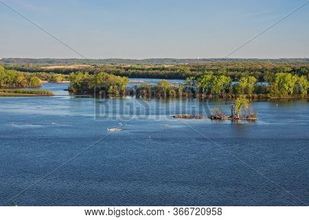 Channels And Islands Of Mississippi River At Spring Lake Park Near Hastings