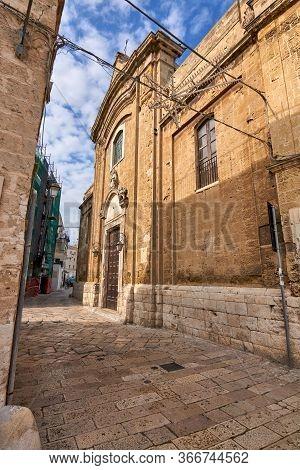 View At Church Of Santa Scolastica Also Known As Chiesa Di Santa Scolastica In Bright Sunlight Bari