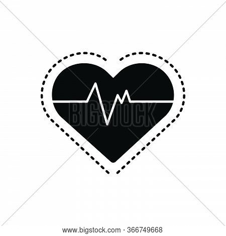 Black Solid Icon For Heart-rate Heart Rate Cardiac Pulse