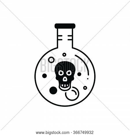 Black Solid Icon For Acid Indigestion Digestion Gastric Dangerous