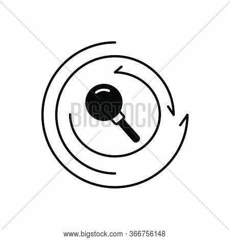 Black Solid Icon For Research Investigation Inquiry Finding
