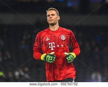 London, England - October 1, 2019: Manuel Neuer Of Bayern Pictured Ahead Of The 2019/20 Uefa Champio