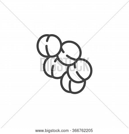 Staphylococcus Aureus Infection Line Icon. Linear Style Sign For Mobile Concept And Web Design. Viru