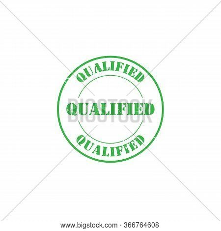Qualified Grunge Rubber Stamp Logo