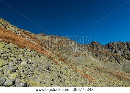Amazing Vysoke Tatry Mountains Scenery From Hiking Trail Bellow Bystra Lavka Saddle In Slovakia Duri