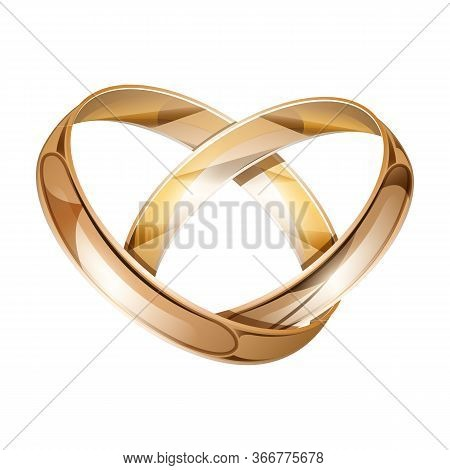 Wedding Ring Vector Icon.realistic Vector Icon Isolated On White Background Wedding Ring .