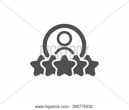 Business Rank Icon. Employee Nomination Sign. Human Rating Symbol. Classic Flat Style. Quality Desig