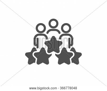 Business Meeting Icon. Employee Nomination Sign. Teamwork Rating Symbol. Classic Flat Style. Quality