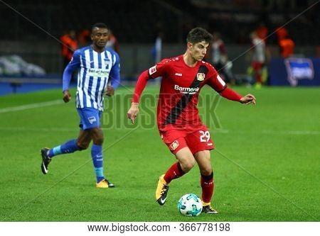 Berlin, Germany - September 20, 2017: Kai Havertz Of Bayer 04 Leverkusen Controls A Ball During The