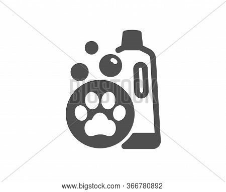 Pet Shampoo Icon. Pets Care Sign. Dog Cleaning Symbol. Classic Flat Style. Quality Design Element. S