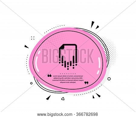 Recovery File Icon. Quote Speech Bubble. Backup Data Sign. Restore Document Symbol. Quotation Marks.