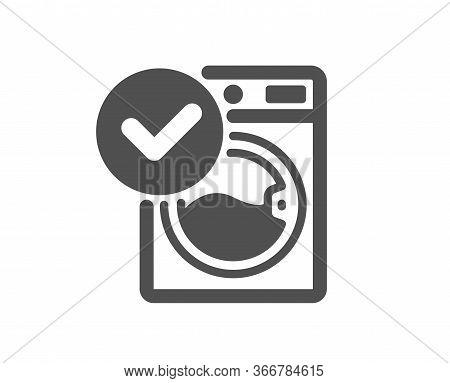 Washing Machine Icon. Wash Laundry Sign. Washable Cleaner Symbol. Classic Flat Style. Quality Design