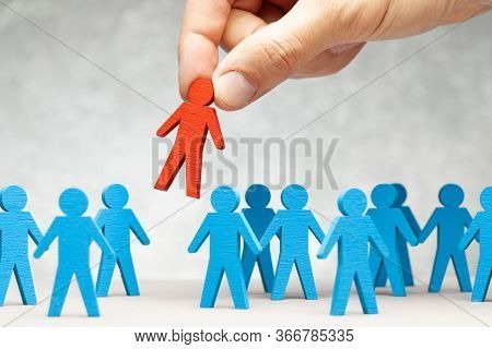 Staff Recruitment. Choosing A Good Leader. Boss Keeps Subordinate