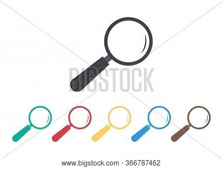 Magnify Glass Icon. Lupe For Look, Search. Loupe For Inspect, Detect, Investigate. Scientific Tool W