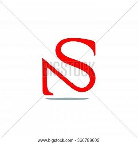 Letter Ns Simple Curves Design Symbol Logo Vector