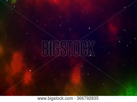 Starry Sky Color Background. Infinity Of Universe Space Nebula. Dark Night Sky. Space With Shiny Sta