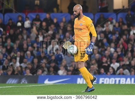London, England - September 25, 2019: Willy Caballero Of Chelsea Pictured During The 2019/20 Efl Cup