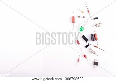 Capacitor Close-up. Capacitor On A White Background