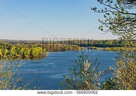 Mississippi River Valley Landscape At Spring Lake Park Near Hastings
