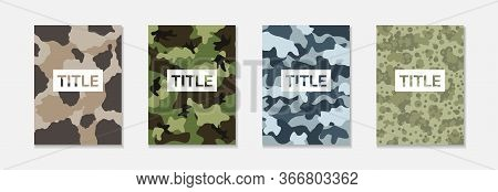 Collecton Of Urban Camouflage With Place For Title Seamless Camouflage Graphic For Digital Print Sea