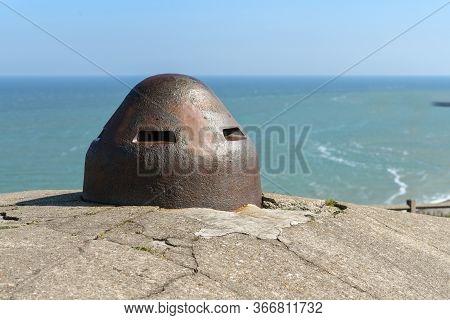 Blockhouses Atlantic Wall Bunker In Dieppe, Normandy, France