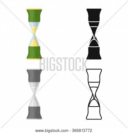 Isolated Object Of Sandglass And Trustworthy Sign. Graphic Of Sandglass And Clock Stock Symbol For W