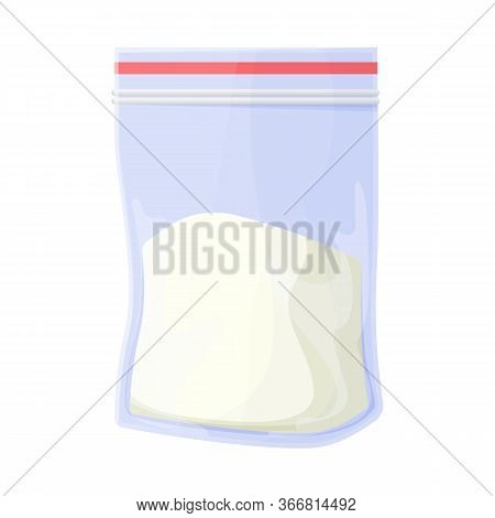 Vector Illustration Of Cocaine And Package Sign. Graphic Of Cocaine And Powder Vector Icon For Stock