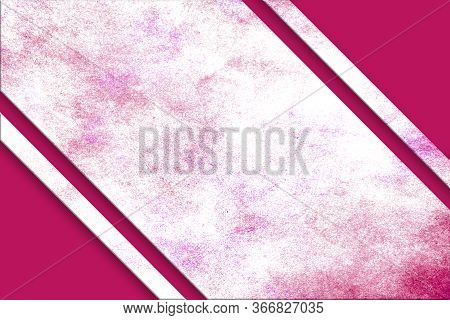 A Diagonal, Red And Magenta Splattered Watercolor Banner Above A Red Abstract Corner Design On Oppos