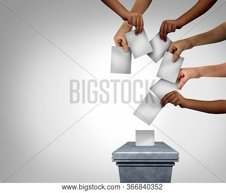 Community Vote Question Mark And Voting Questions Concept As Diverse Multicultural Hands Holding Bla