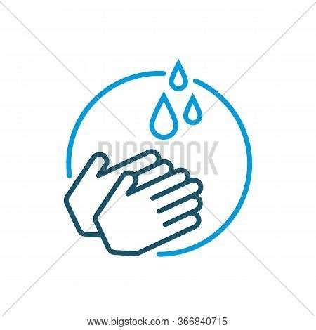 Washing Hands With Soap Vector Sign. Clean Hands Flat Icon. Wash Hand Concept. Arm In Foam Soap Bubb