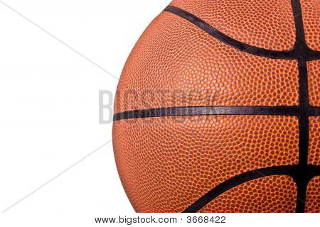 Basket Ball On White Background