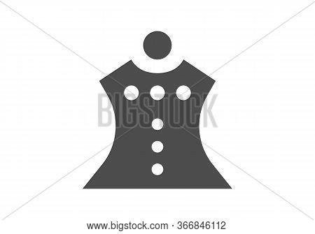 Black Line Icon For Dress-formal Formal Dress Fashion Cloth