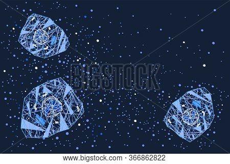 Cytokine Storm Cell Signalling Vector Horizontal Background