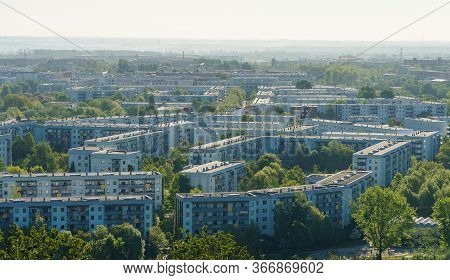 View Of The Residential Area Of Berlin - Marzahn-hellersdorf District. Germany.