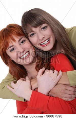 Portrait of smiling sisters