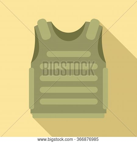 Body Armor Icon. Flat Illustration Of Body Armor Vector Icon For Web Design