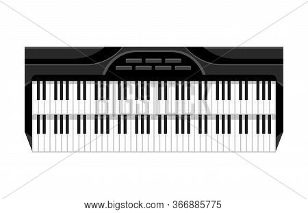 Musical Keyboard Instrument. Isolated Image Of A Keyboard. Vector Illustration - Musician Equipment.