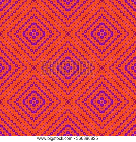 Vector Halftone Geometric Seamless Pattern With Diamond Shapes, Fading Rhombuses. Modern Abstract Ba