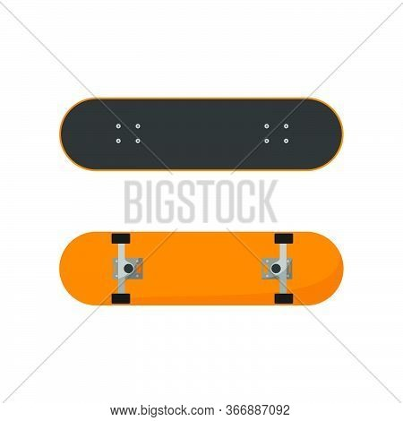 Vector Illustration Of Skateboard View From Top And Bottom. Good For Skateboard Sport Design.