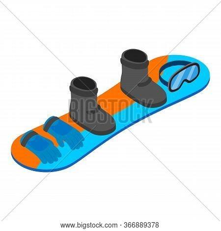 Snowboard Equipment Icon. Isometric Illustration Of Snowboard Equipment Vector Icon For Web