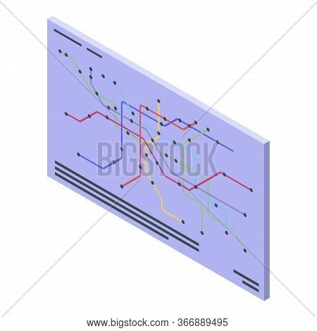 Metro Map Icon. Isometric Of Metro Map Vector Icon For Web Design Isolated On White Background