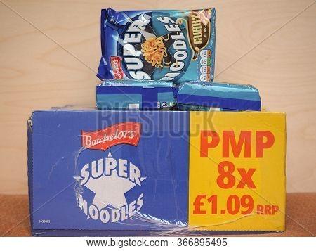 Sheffield - May 2020: Batchelors Super Noodles Packet
